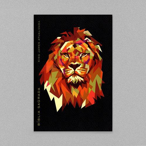 Bíblia King James Atualizada Leão Geométrico | KJA | Capa Dura