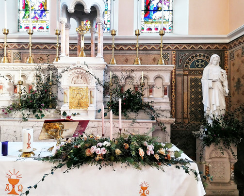 Romantic Woodland Garden Inspired Altar