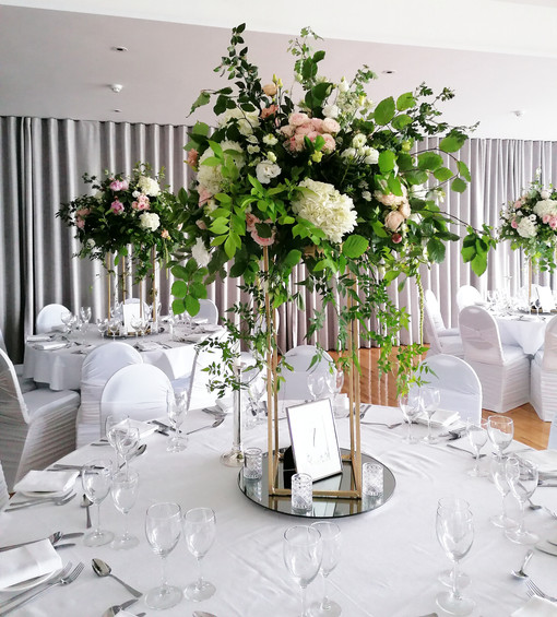 Elevated Garden Centrepiece's at Dunmore House Hotel
