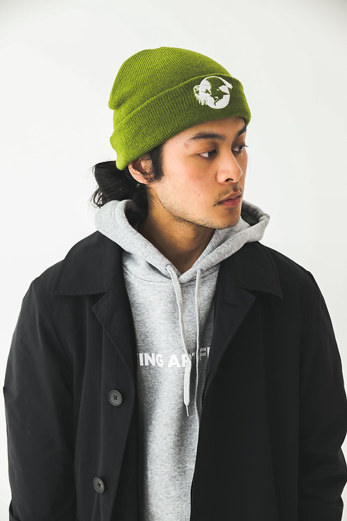'Feel Good' / KHAKI GREEN Beanie