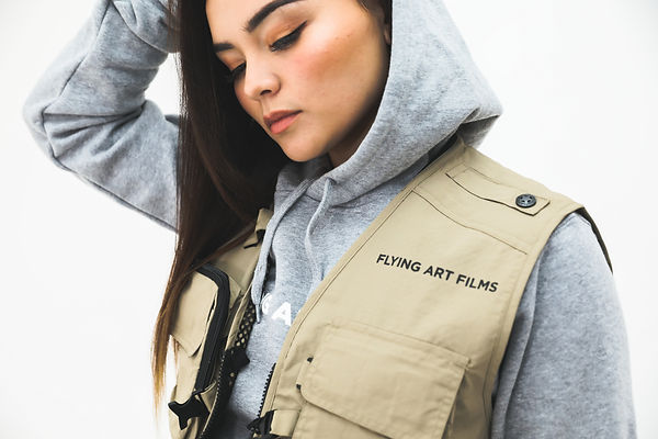 FA Tech Vest Tan Modelled