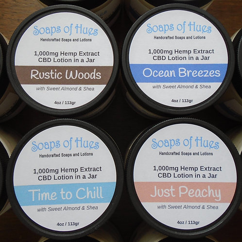 1,000mg Hemp Extract Lotions in a Jar (various scents)