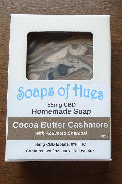 Cocoa Butter Cashmere CBD Bar Soap (55mg)