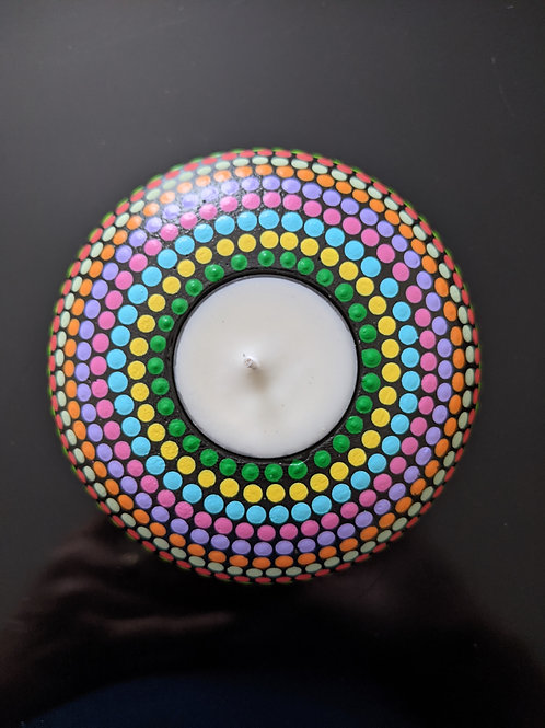 Dotted Tea Light Holder (many colors)