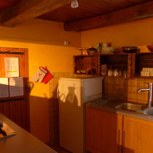 """coin cuisine, """"le Pounti"""", gîte le hameau de Villauret"""