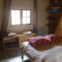"chambre double, ""la Grange"", gîte le ham"