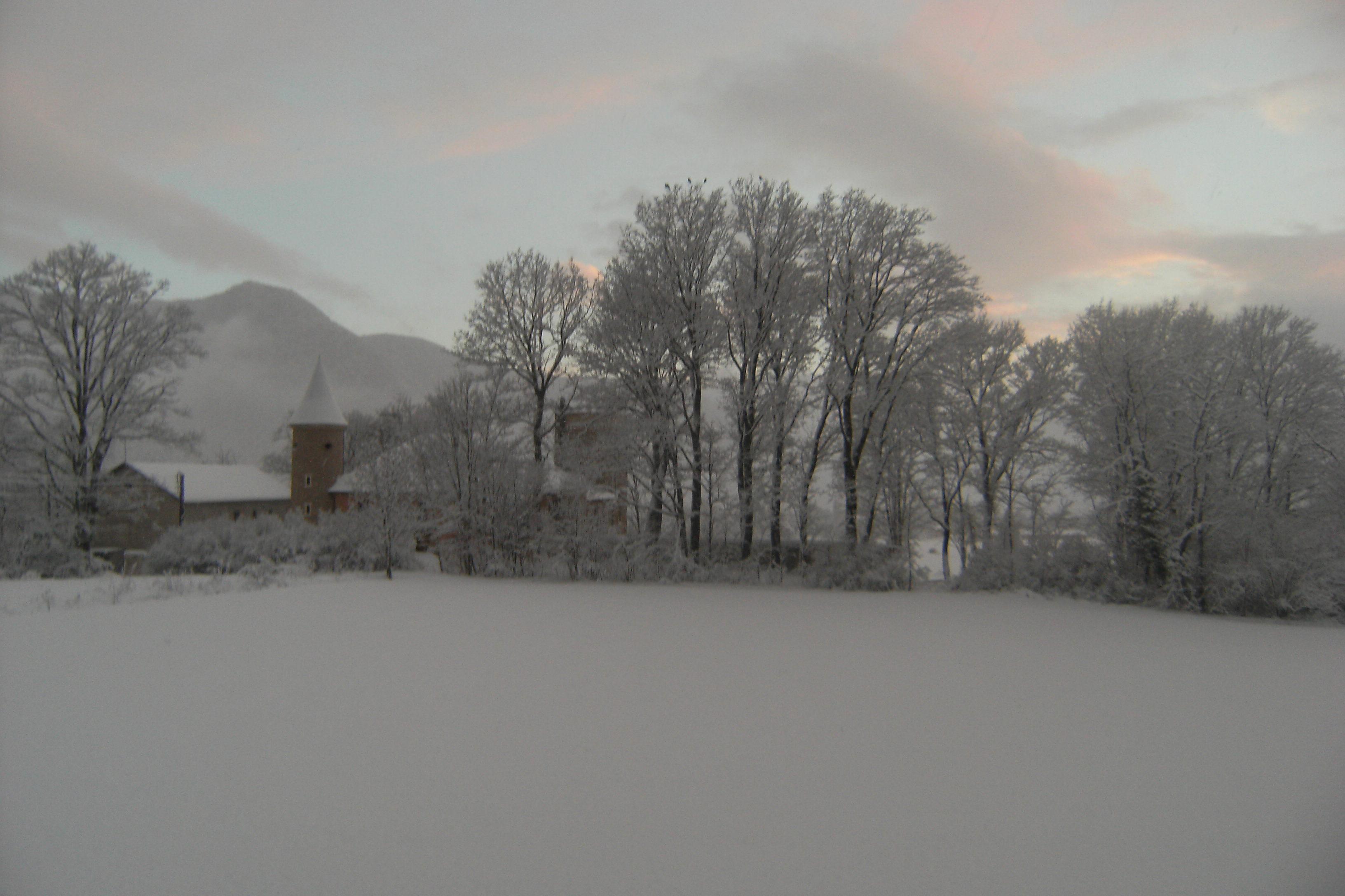 vue de la plaine en plein hiver