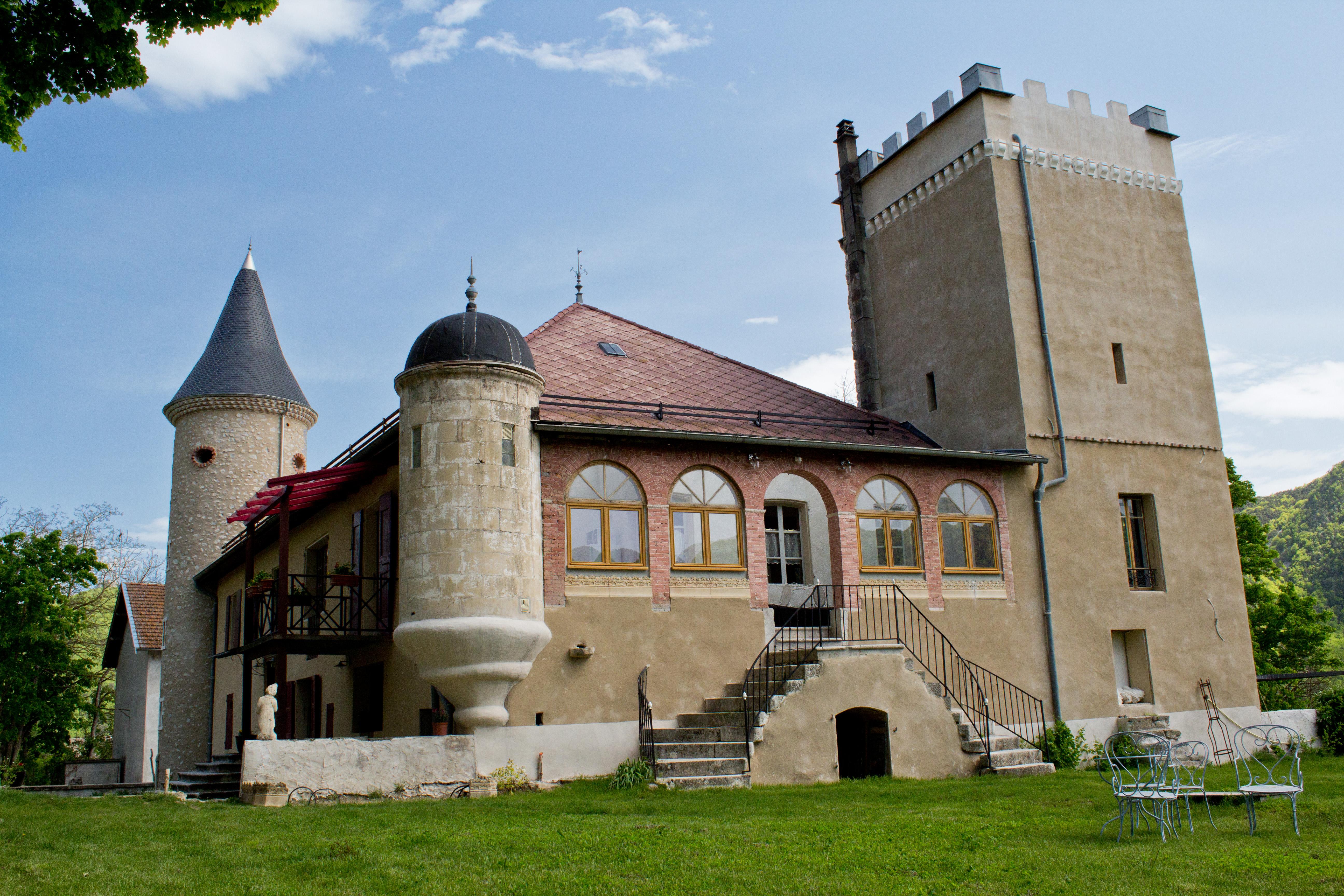 Le château côté jardin