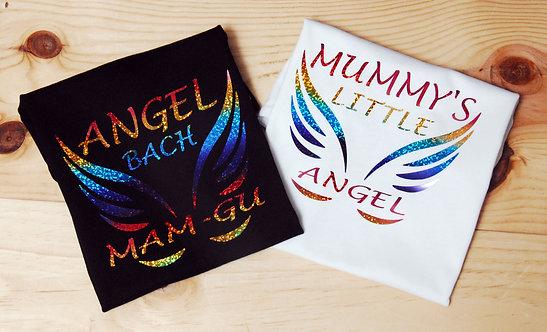 Baby T-shirt with Mummy's little Angel deign