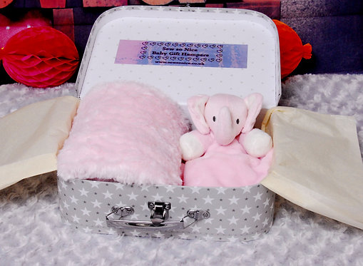 Babies Wrap &  Elephant Comforter Hamper from