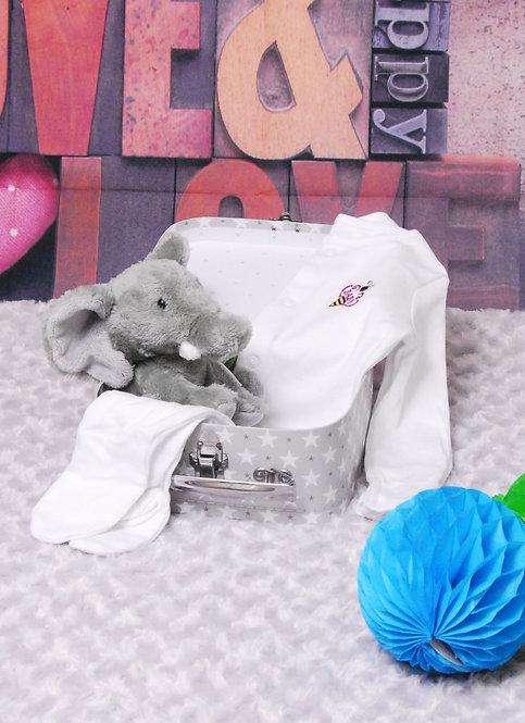 Elephant & Baby Bee Sleepsuit