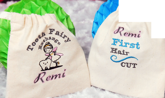 Tooth Fairy & First Hair Cut Pouch From