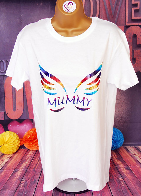 Mummy with Angel wings T-shirt For Mothers day