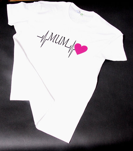 Mum heart beat T-shirt for Mothers day