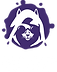 White Logo face with purple ink blot Tra