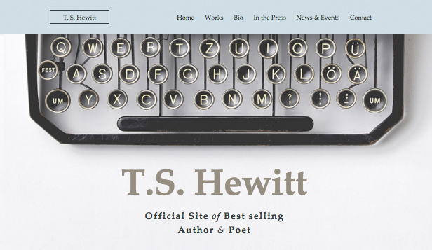 Creative Arts website templates – Author & Poet