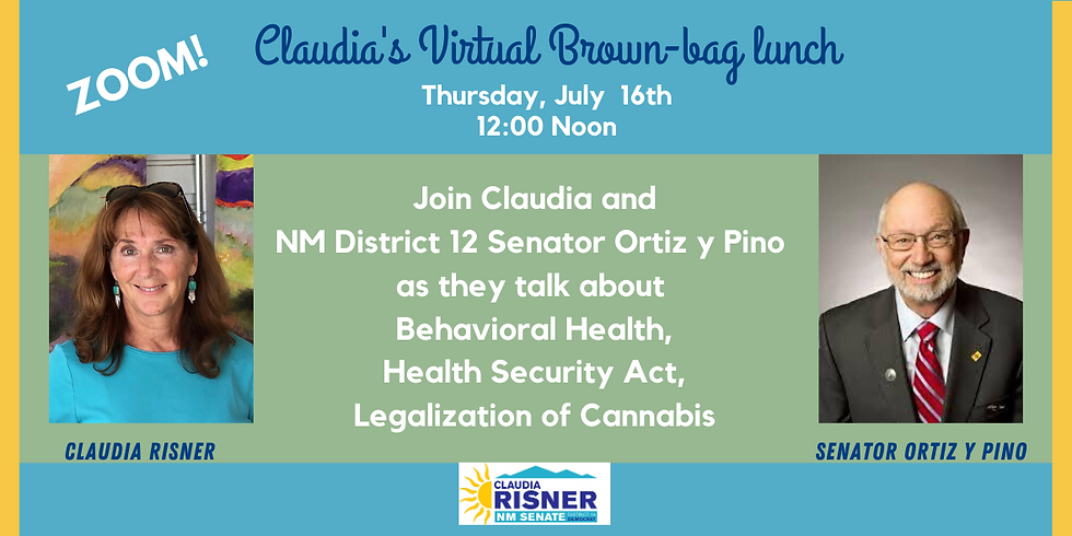 Claudia's Brown-bag Lunch with NM District 12 Senator Ortiz y Pino