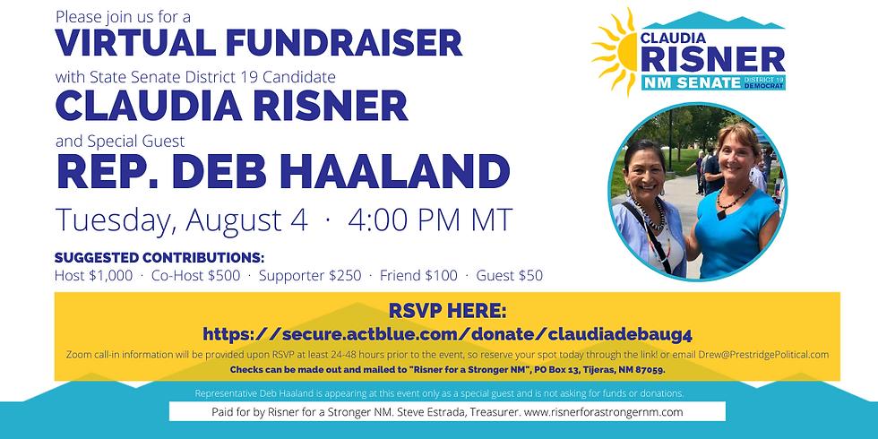Fundraiser for Risner featuring Representative Deb Haaland