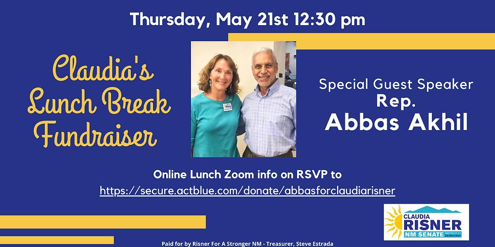 Claudia Fundraiser Lunch with Rep. Abbas Akhil