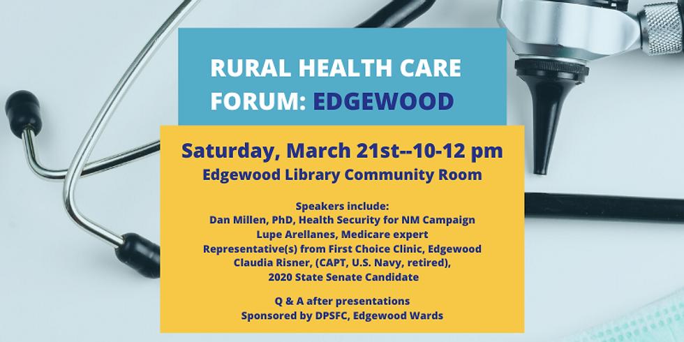 POSTPONED--Rural Health Care Forum