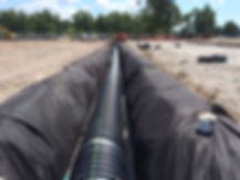 Storm pipe drainage system