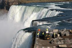 Paving American Falls