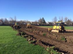 Stripping topsoil