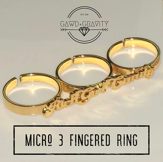 Micro 3 Fingered Ring