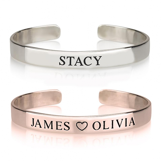 """""""Engraved Name Cuff"""""""