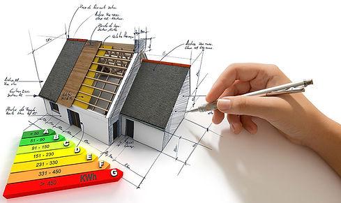 Energisparepotentiale på hus med energiklasse skala A-G
