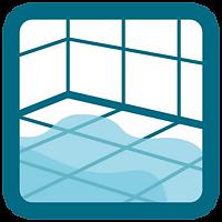 Vådrum - byggetekniske problemer - Piktogram