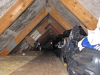 Manglende ventilation på grund af opmagasinering i tagrum