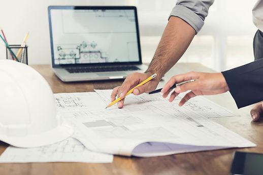 Projektraadgivning gennemgang af projekttegning
