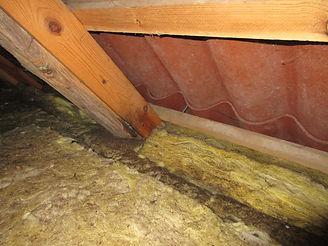 Opfugtet tagkonstruktion pga manglende dampspaerre
