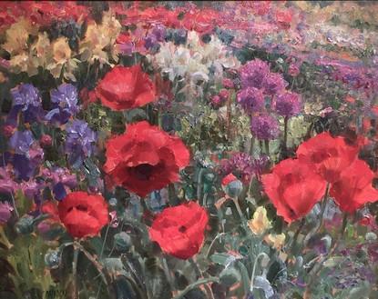 'Poppies in a Garden'