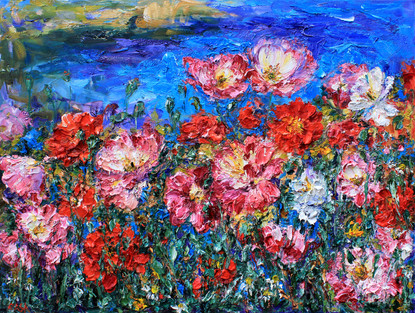 'Poppies by the Sea'