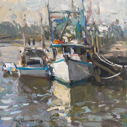 'Fishing Boat Reflections'