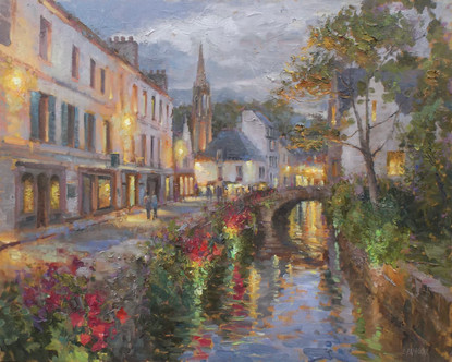 ' Evening Walk in Pont Aven'