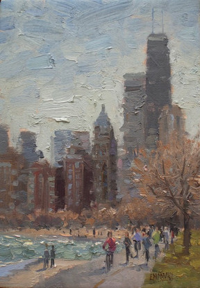 'Lakefront in Early Spring'