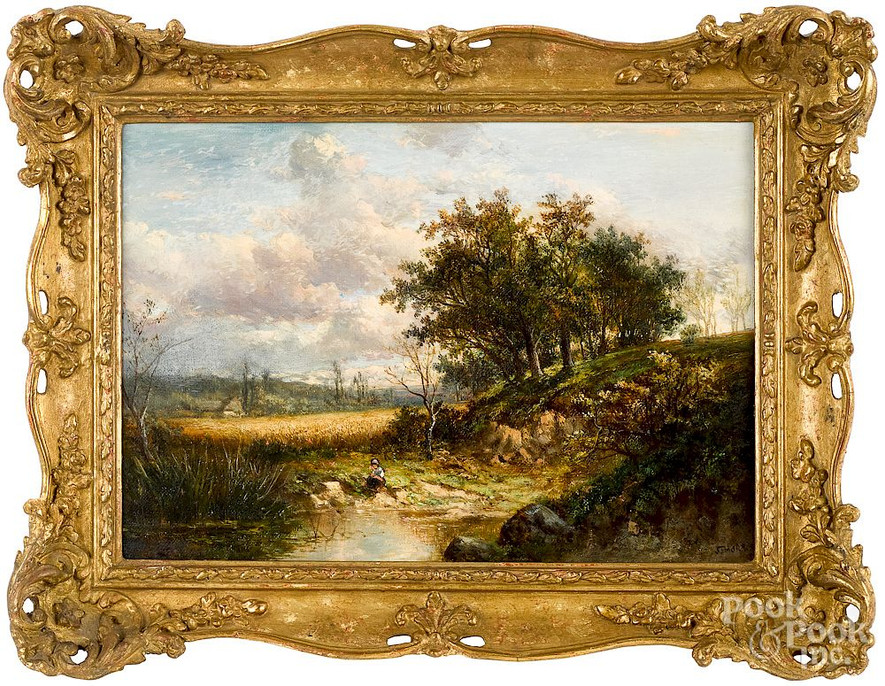 'Warwickshire Landscapes' A pair