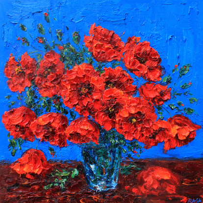 'Poppies in a Vase'
