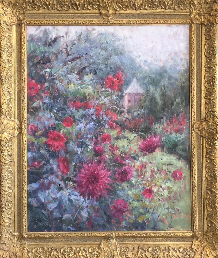 'Dahlias in a Landscape'