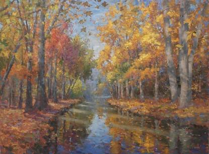 'Autumn River Landscape'