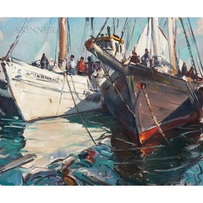 'Boats in Port'
