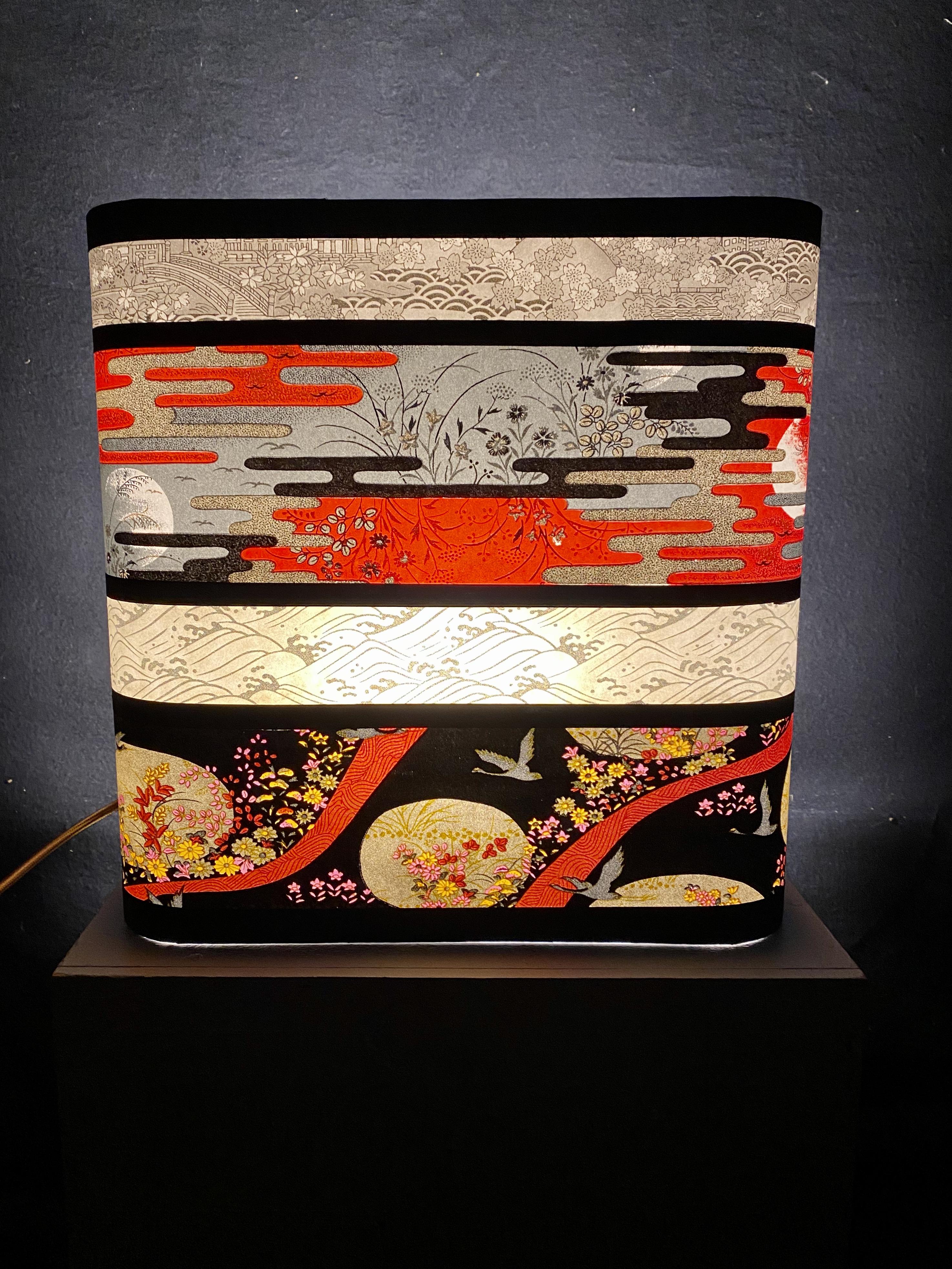 Grande applique murale japonaise