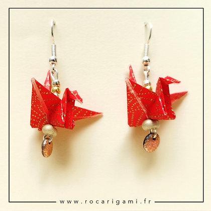 Atelier boucles d'oreilles grue origami samedi 7 novembre