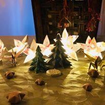 Décoration de table pour Noël en papier japonais mercredi 9 décembre