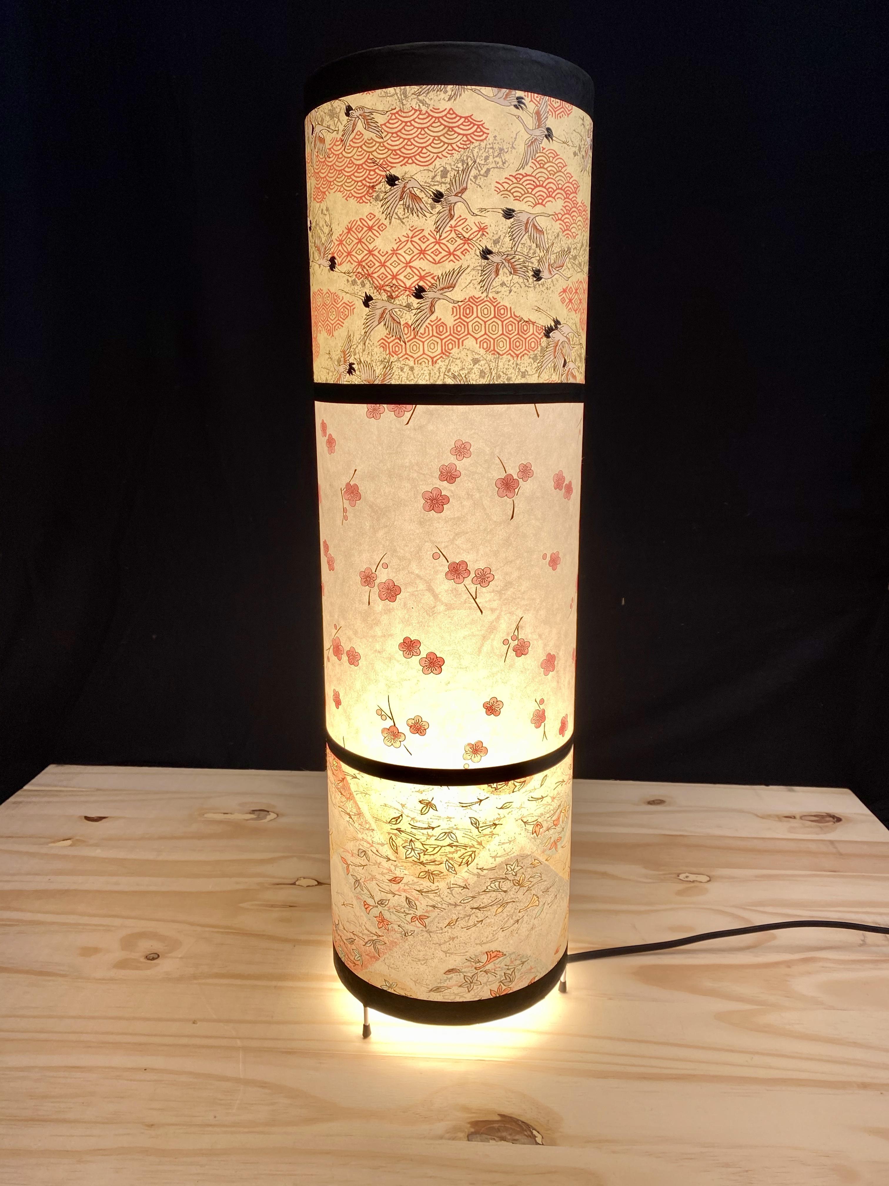 Grande lampe japonaise ronde
