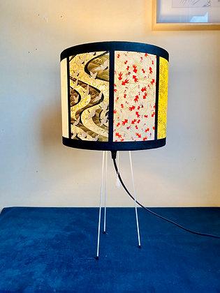 Lampe japonaise pieds métalliques