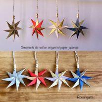 Ornements de Noël en origami mercredi 4 novembre
